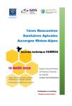 Affiche 1ères rencontres sanitaires apicoles en Auvergne Rhône-Alpes